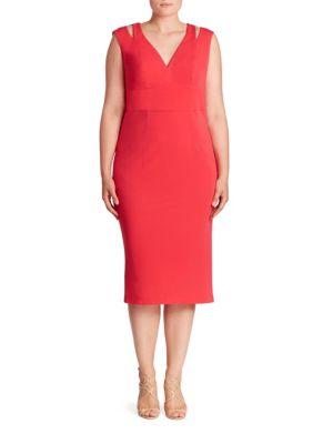 Cutout Shoulder Midi Dress