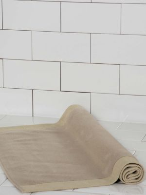 Diamond Border Egyptian Cotton Bath Mat