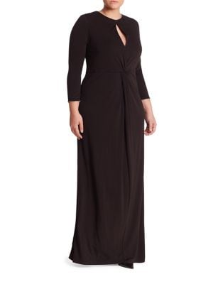 Twist Front Keyhole Gown
