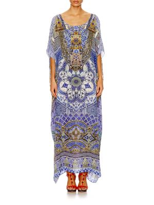 camilla female embellished silk caftan