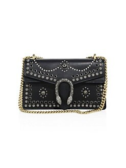 Gucci - Small Dionysus Studded Leather Shoulder Bag