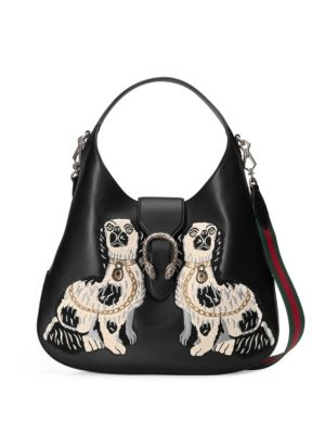 gucci female dionysus embroidered leather hobo bag