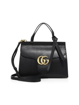 GG Marmont Leather Top-Handle Bag