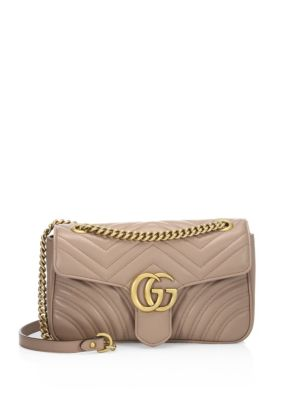 Small GG Marmont Matelassé Leather Chain Shoulder Bag