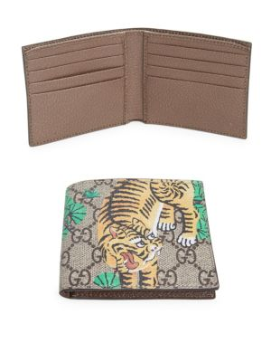 gucci male gg supreme tiger billfold wallet