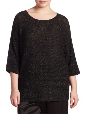 Metallic Sweater plus size,  plus size fashion plus size appare