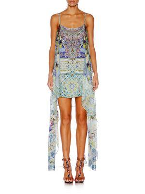camilla female  silk overlay mini dress