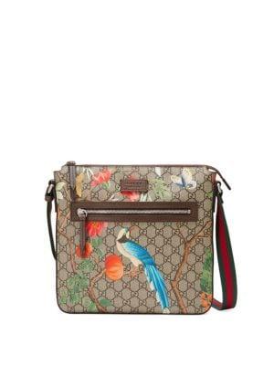 gucci female 186518 gucci tian gg supreme messenger bag