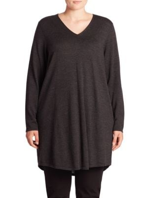 Merino Wool Tunic Dress plus size,  plus size fashion plus size appare