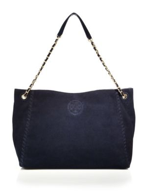 Marion Whipstitched Suede Tote