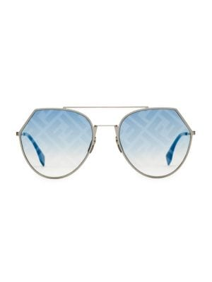 55MM Notched Aviator Sunglasses