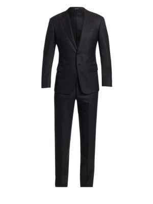 Basic Wool-Blend Suit