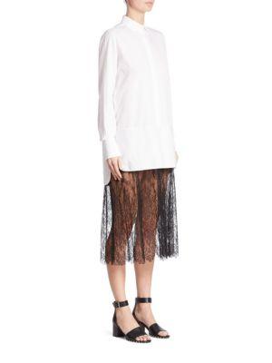 Cotton Lace Shirtdress
