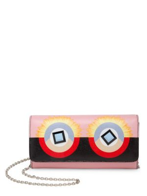 Crayons Colorblock Leather Chain Wallet