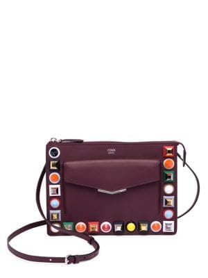 Multicolor Studded Leather Pouch