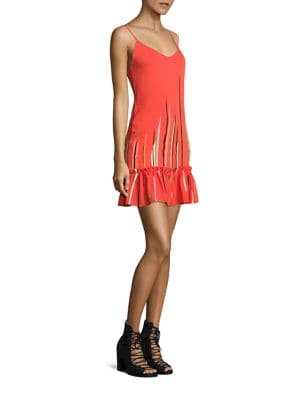 Silk Georgette Ruffle Hem Slip Dress