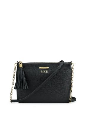 Personalized Chelsea Pebbled Leather Crossbody Bag