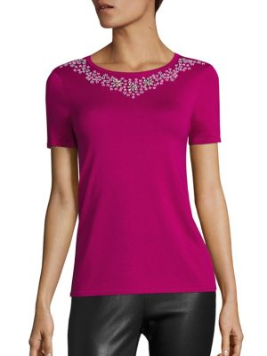 COLLECTION Embroidered Roundneck Top