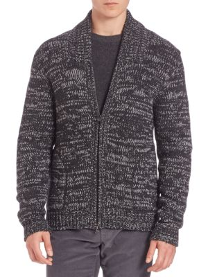 Yak & Wool Blend Zippered Cardigan