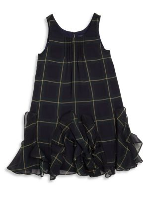 Toddler's & Little Girl's Plaid Ruffle Dress