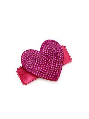 Girl's Crystal Heart Clip