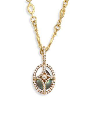 JORDAN ALEXANDER Caged 18MM-20MM Tahitian Pearl, Diamond & 18K Yellow Gold Pendant