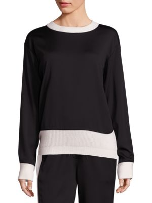 Mixed Media Pullover by DKNY