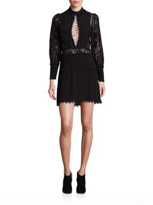 Lola Rose Lace-Up Mini Dress