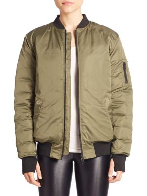 Zip-Front Bomber Jacket by Blanc Noir