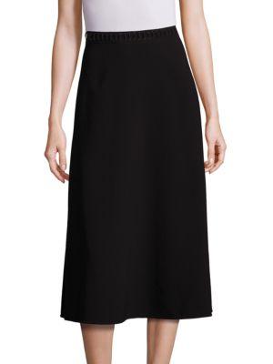 Laced Waist A-Line Skirt