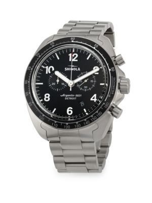 Rambler Chronograph Brushed Titanium Bracelet Watch