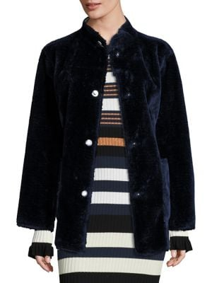 Culver Faux Fur Reversible Coat by Opening Ceremony