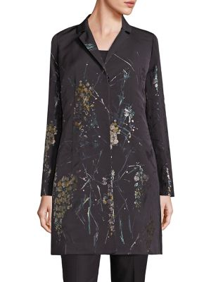 Guenever Jacquard Fontaine Floral Coat