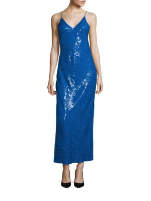 Havita Sequined Silk Gown