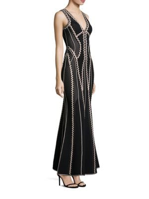 Knit Patterned Gown