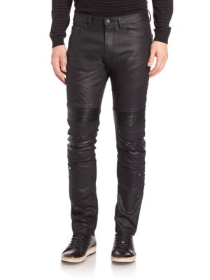 Slim-Fit Moto Jeans