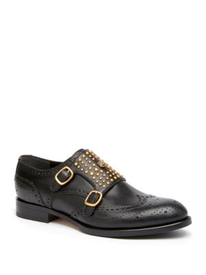 Queercore Studded Brogue Monk Shoes