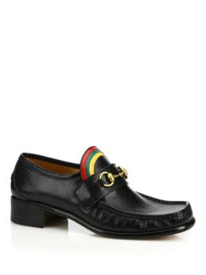 Rainbow Horsebit Leather Loafers