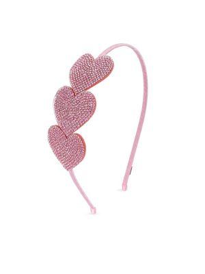 Girl's Crystal Heart Headband