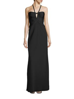 Solid Halter Gown