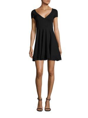 Cotton Lace Trim A-Line Dress