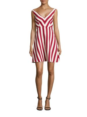 Striped Cotton & Silk A-Line Dress