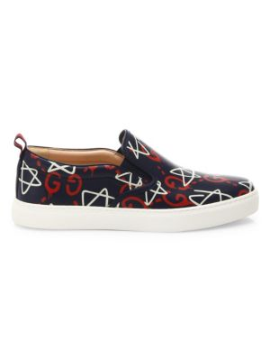 gucci male guccighost dublin slipon sneakers