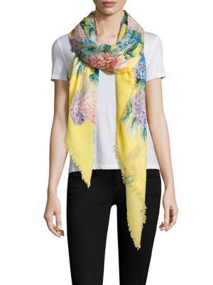 gucci female hydrangeaprint cashmere silk scarf