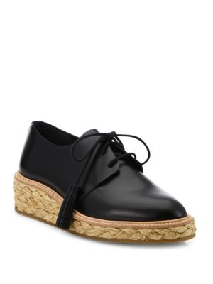 Callie Leather Espadrille Oxfords