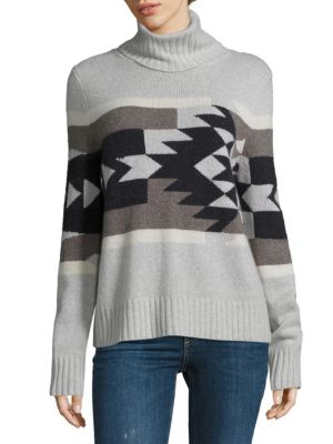 Willa Aztec Turtleneck Cashmere Sweater