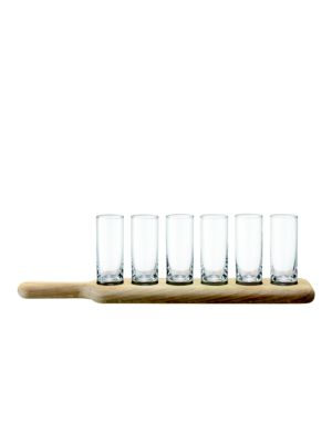 Seven-Piece Shot Glasses and Paddle Set