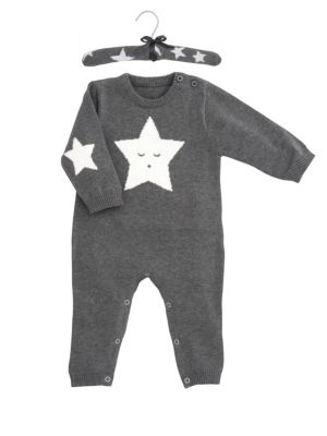 Baby's Star Intarsia Coverall