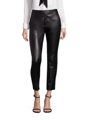 Leather Straight-Leg Pants