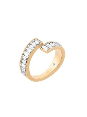 Black Tie Affair Crystal Wrap Ring/Goldtone